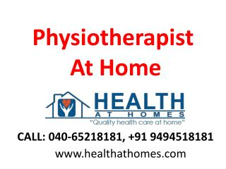 Physiotherapist at Your Home in Jubileehills,Banjarahills