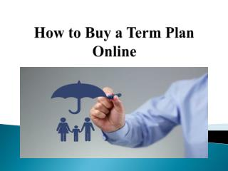 How to buy a term plan online