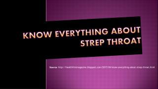 Know Everything about Strep Throat
