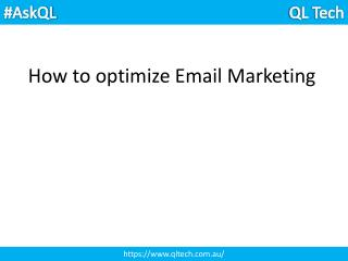 How to optimize Email Marketing