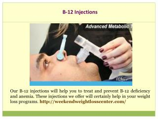 B-12 Injections
