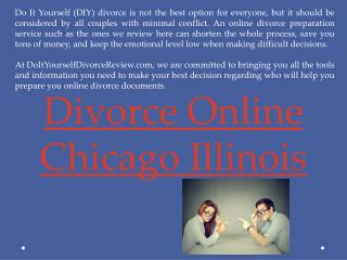 divorce papers online Chicago Illinois
