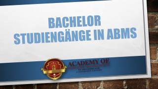 Bachelor Studiengänge in ABMS