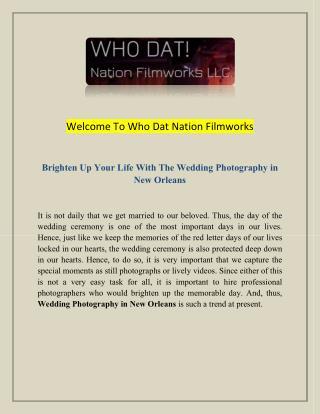 Movie Productions Louisiana and Wedding Photographers Louisiana.pdf