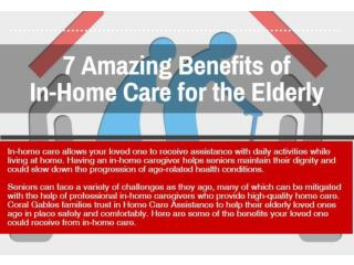 INFO 7  Benefits of In-Home Care for the senior's
