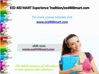 EED 400 MART Experience Tradition/eed400mart.com