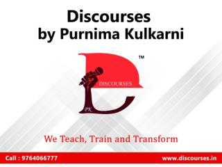 Best English Speaking Institute in Bibwewadi Pune - Discourses