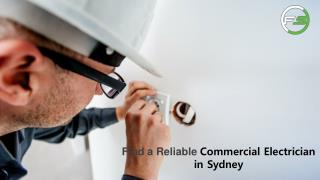 Find a Reliable Commercial Electrician in Sydney, Australia