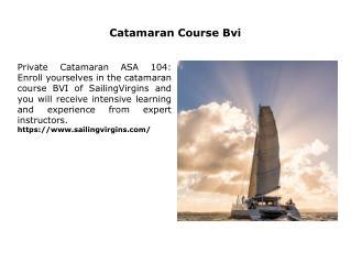 Catamaran Course Bvi