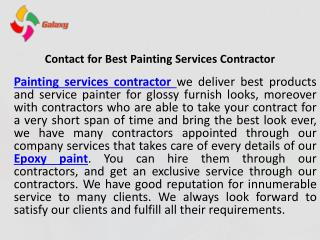 Contact for best painting services contractor