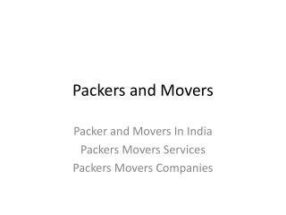 Packer and Movers In India