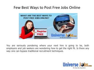 Few Best Ways to Post Free Jobs Online