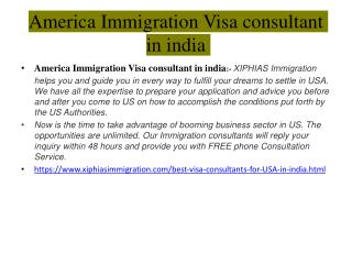 America Immigration Visa consultant in india