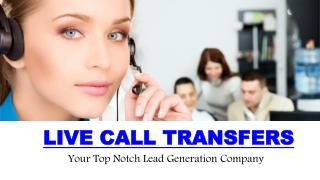 Promote your business with live call transfers