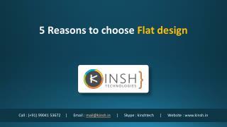 5 reasons to choose Flat Design