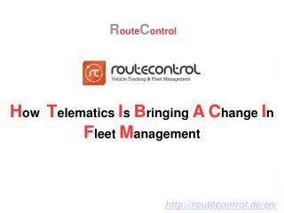 How Telematics is Bringing a Change in Fleet Management