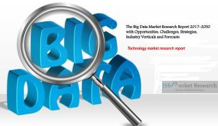 The Big Data Market Research Report 2017-2030 with Opportunities, Challenges, Strategies, Industry Verticals and Forecas