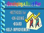 Developing a Board Plan