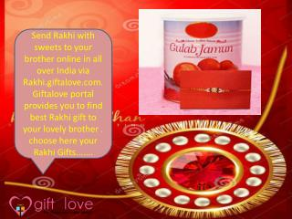 Send Rakhi with Sweets in India
