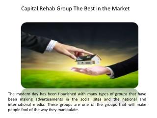 Capital Rehab Group The Best in the Market