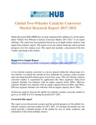 Global Two-Wheeler Catalytic Converter Market Research Report 2017-2021