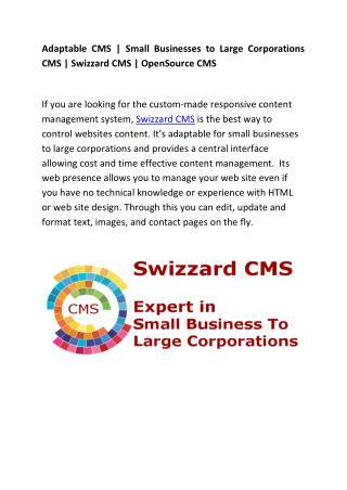 Swizzard | User-Friendly CMS