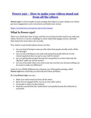 Power-250 review & (GIANT) $24,700 bonus