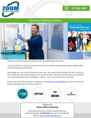 Commercial Cleaning In Brisbane