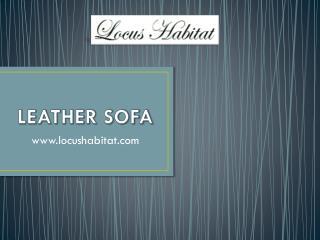 Leather Sofa - www.locushabitat.com