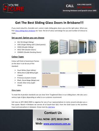 Get The Best Sliding Glass Doors In Brisbane!!!