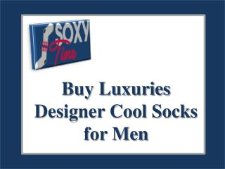 Buy Luxuries Designer Cool Socks for Men