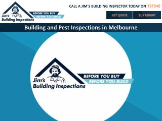 Building and Pest Inspections in Melbourne