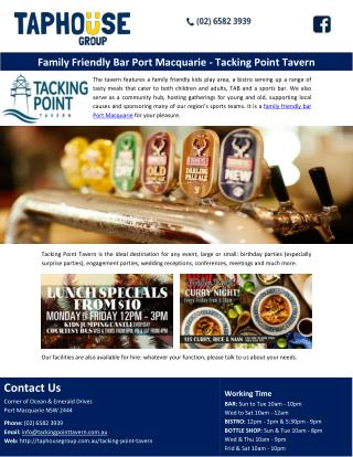 Family Friendly Bar Port Macquarie - Tacking Point Tavern