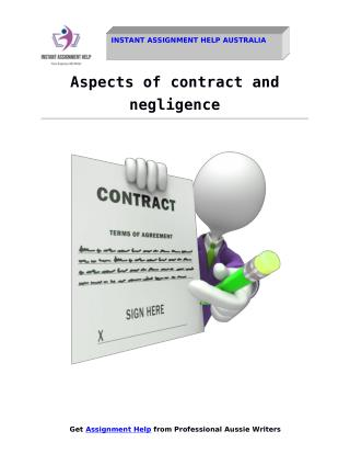 Importance Aspects of contract and negligence