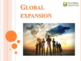 Global Expansion to Expand Operations
