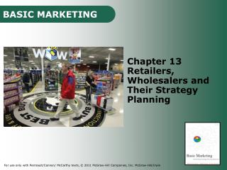 Chapter 13 Retailers, Wholesalers and Their Strategy Planning