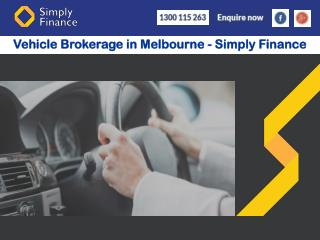Vehicle Brokerage in Melbourne - Simply Finance