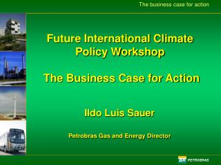 Future International Climate Policy Workshop   The Business Case for Action