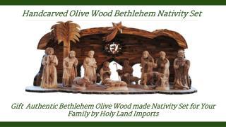 Bethlehem Olive Wood Nativity Sets
