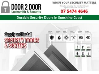 Durable Security Doors in Sunshine Coast