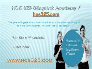 HCS 325 Slingshot Academy / hcs325.com