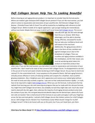 http://healthonlinereviews.com/defi-collagen-serum/