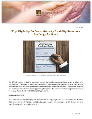 Why Eligibility for Social Security Disability Remains a Challenge for Some