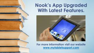 Nook's App Upgraded With Latest Features.