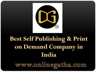 OnlineGatha: Self Publishing in India, Print on Demand in India, Self Book Publisher Lucknow