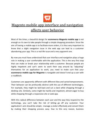 ecommerce mobile app for Magento