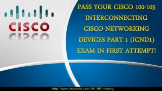 Cisco 100-105 Study Material | 100-105 CCIE Routing and Switching Exam Training