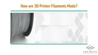 How are 3D Printer Filaments Made?