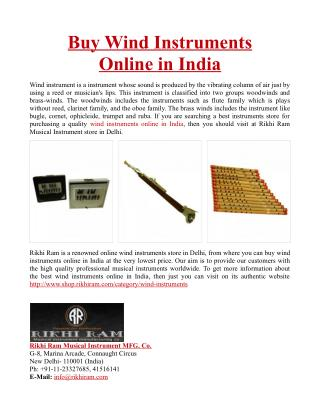 Buy Wind Instruments Online in India