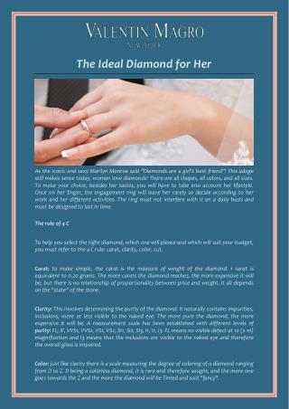 The Ideal Diamond for Her